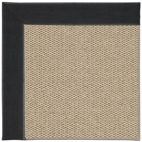 Barrett Machine Tufted Onyx/Beige Area Rug by Highland Dunes