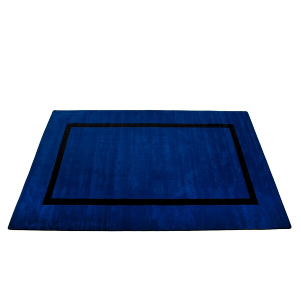 Montessori Blue with Black Line Classroom Kids Rug by Kid Carpet