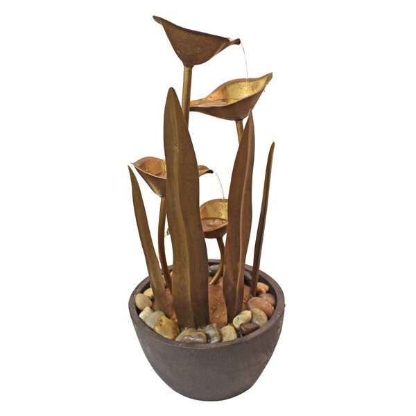 Resin Botanical Garden Tiered Fountain by Wildon Home ®