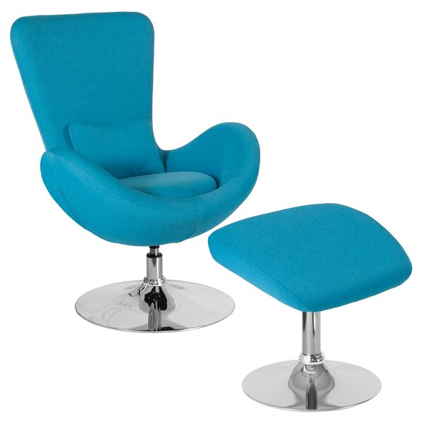 Maresca Guest Chair with Ottoman by Orren Ellis
