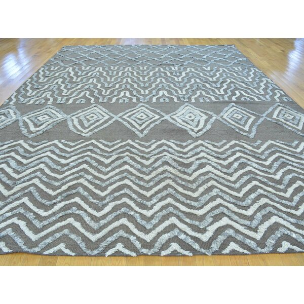 One-of-a-Kind Beard Hand-Knotted Brown Wool Area Rug by Isabelline