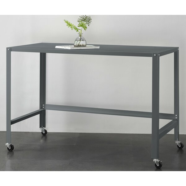 Brewster Metal Console Rolling Desk by Ebern Designs