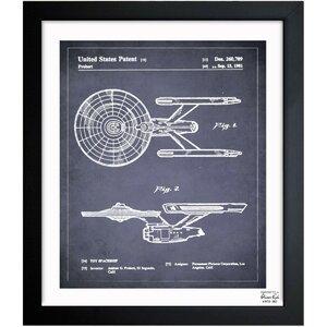 Enterprise 1981 Framed Graphic Art by Oliver Gal