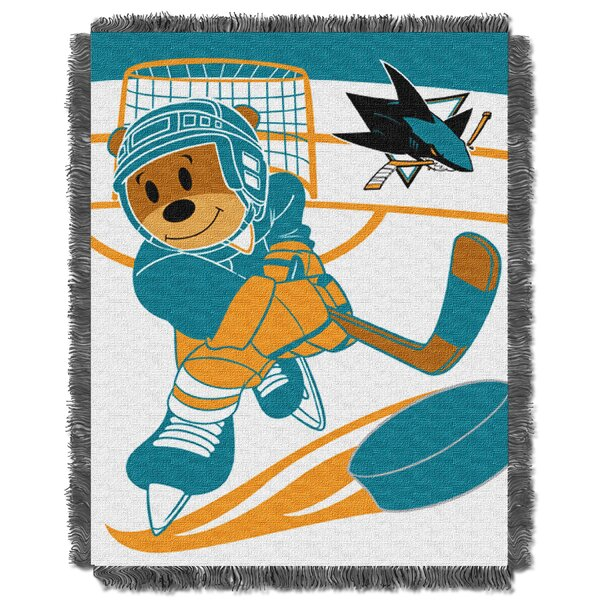 NHL Sharks Baby Woven Throw Blanket by Northwest Co.