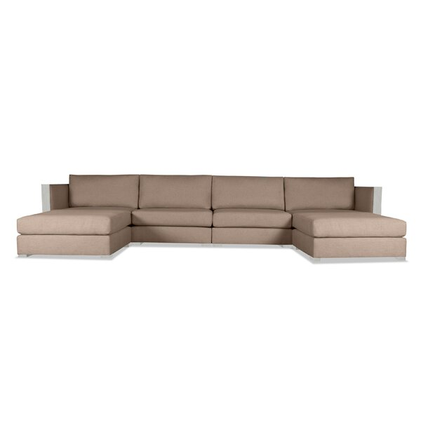 Steffi Double Chaise Sectional by Orren Ellis