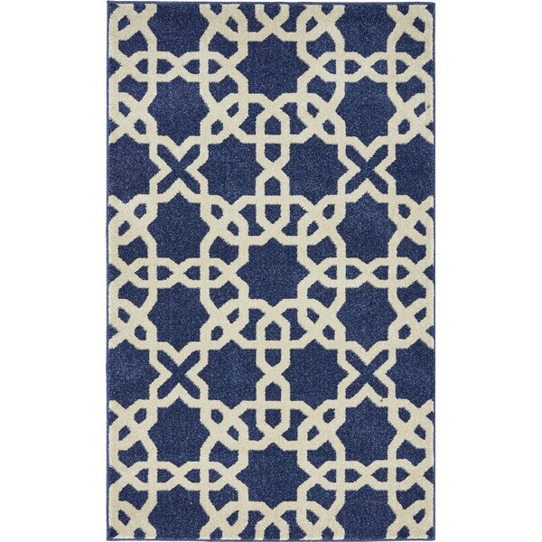 Moore Blue/Beige Area Rug by Charlton Home