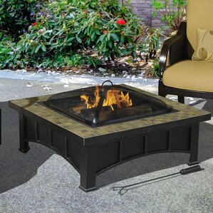 Scenic Steel Slate Fire Pit Table