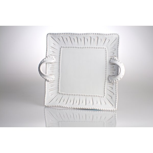 Charlot French Square Platter with Handles by Abigails