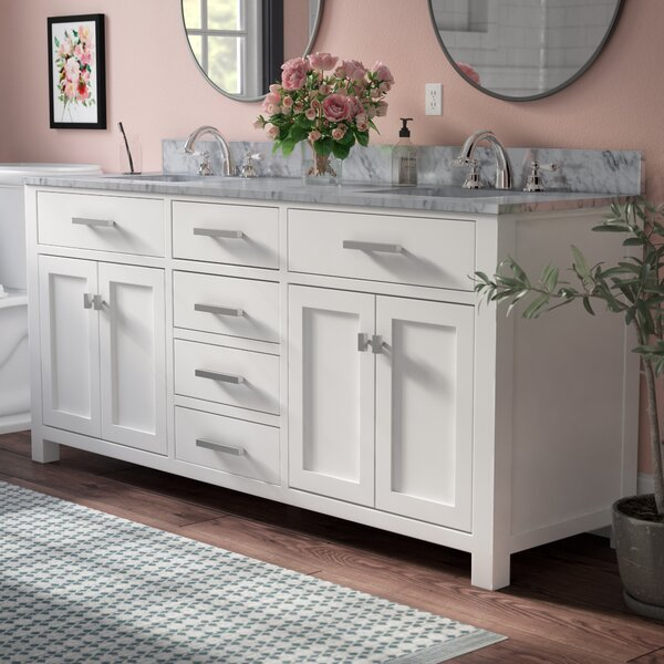 Raven 72 Double Bathroom Vanity by Andover Mills