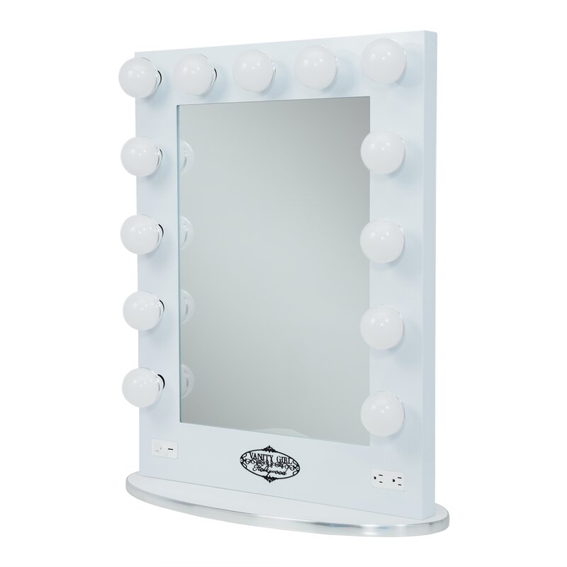 Vanity girl hollywood broadway lighted vanity mirror reviews wayfair broadway lighted vanity mirror mozeypictures Image collections