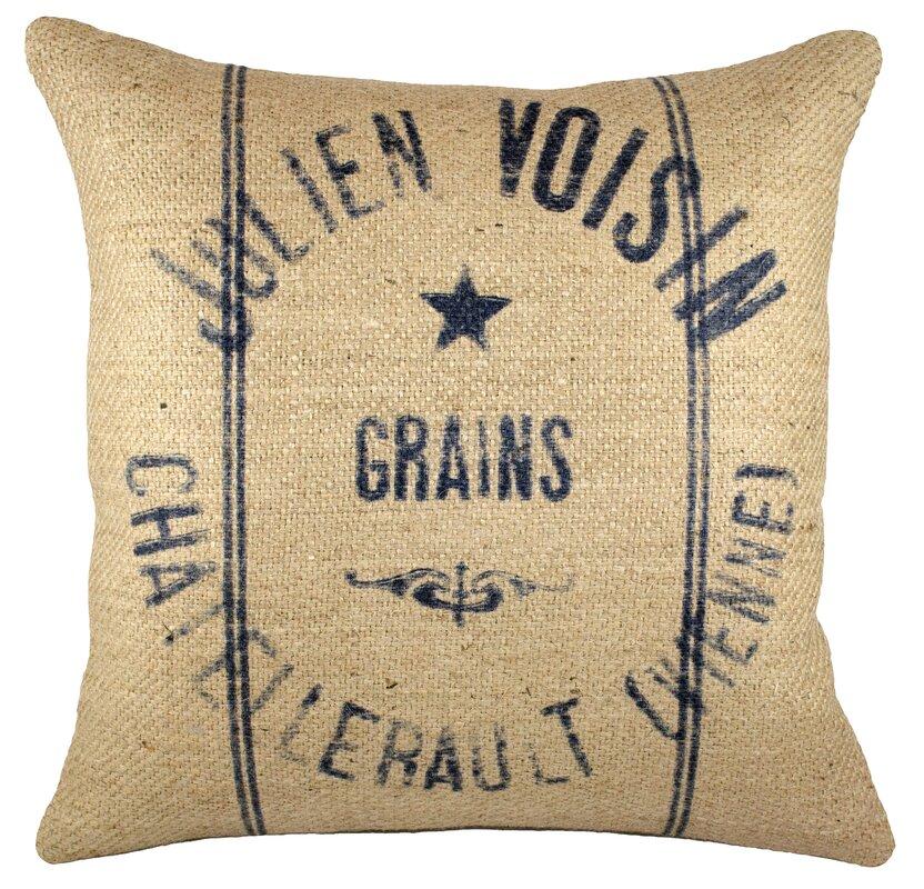 Grainsack Throw Pillow #grainsackpillow #Frenchgrainsack #FrenchFarmhouse