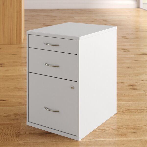 Cassandra 3 Drawer Vertical Filing Cabinet by Zipcode Design