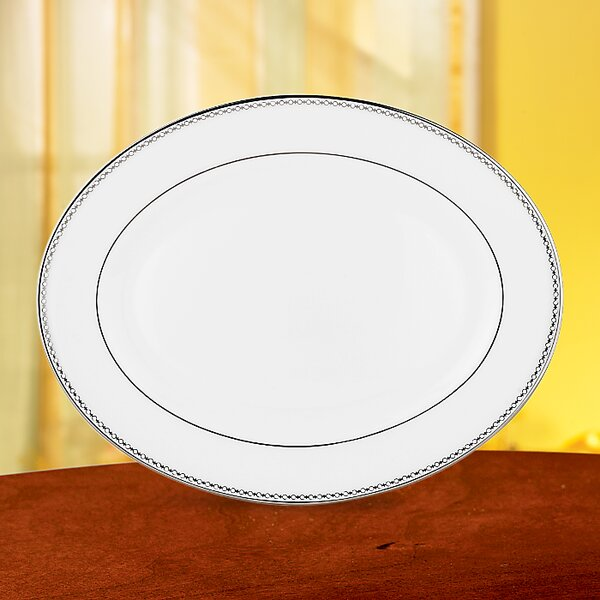 Pearl Platinum Oval Platter by Lenox