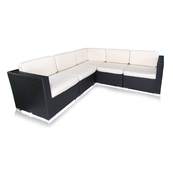Bairdstown 5 Piece Sectional Set with Cushions by Brayden Studio
