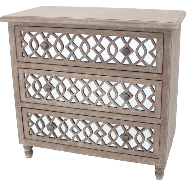 Caitlin 3 Drawer Accent Chest by House of Hampton House of Hampton