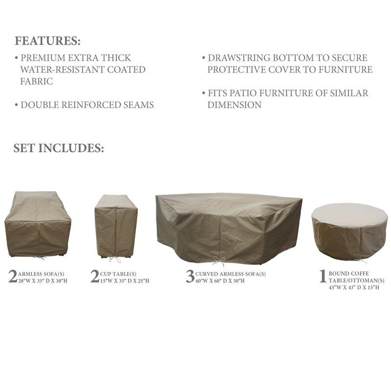 Patio Armor Sofa Cover: Sol 72 Outdoor Tegan Water Resistant 8 Piece Patio Sofa