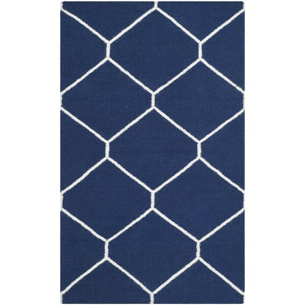 Dhurries Navy/Ivory Area Rug by Safavieh