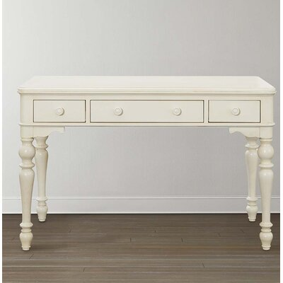 Blithedale Writing Desk with 3 Drawers in Antique White - Rosecliff Heights Blithedale Writing Desk With 3 Drawers In Antique