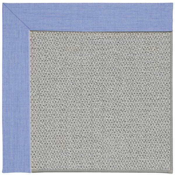 Barrett Silver Machine Tufted Spa/Gray Area Rug by Highland Dunes