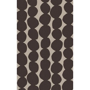 Textila Hand Woven Wool Black Area Rug By Lotta Jansdotter