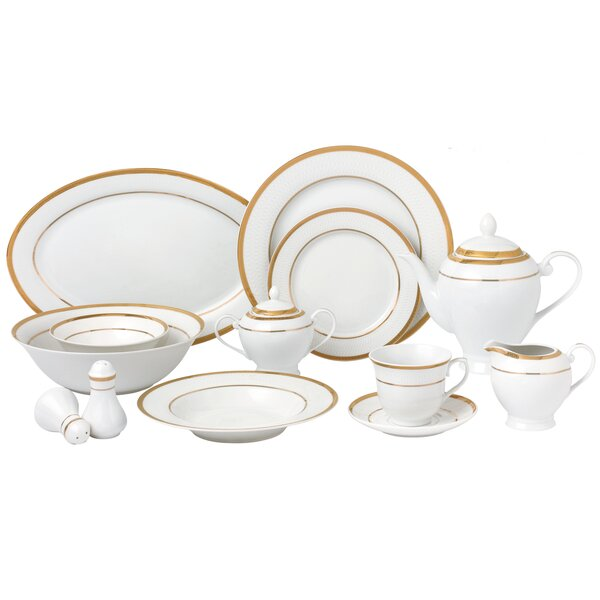 57 Piece Dinnerware Set, Service for 8 by Lorren Home Trends