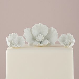 Buy 3 Piece Porcelain Bisque Poppy Blooms Sculpture Set!