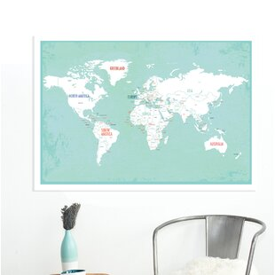ritesh world map paper print