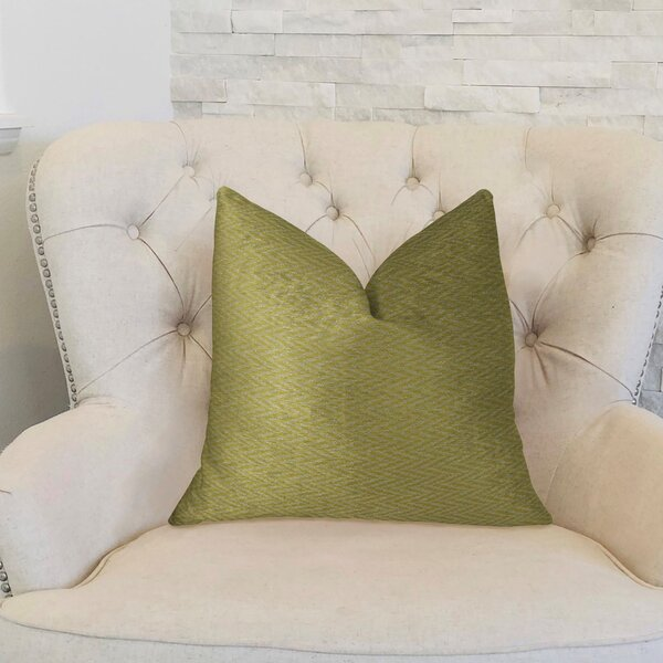 Nesting Zigzag Handmade Throw Pillow by Plutus Brands