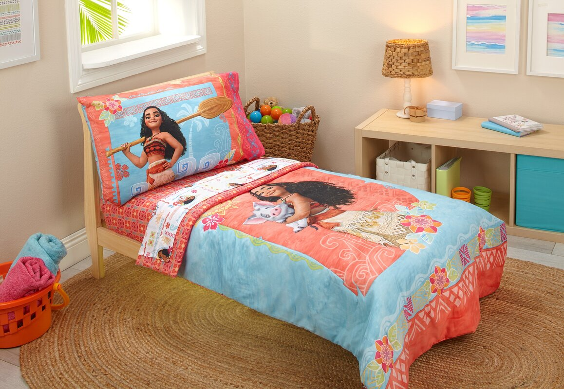 Disney Moana 4 Piece Toddler Bedding Set & Reviews