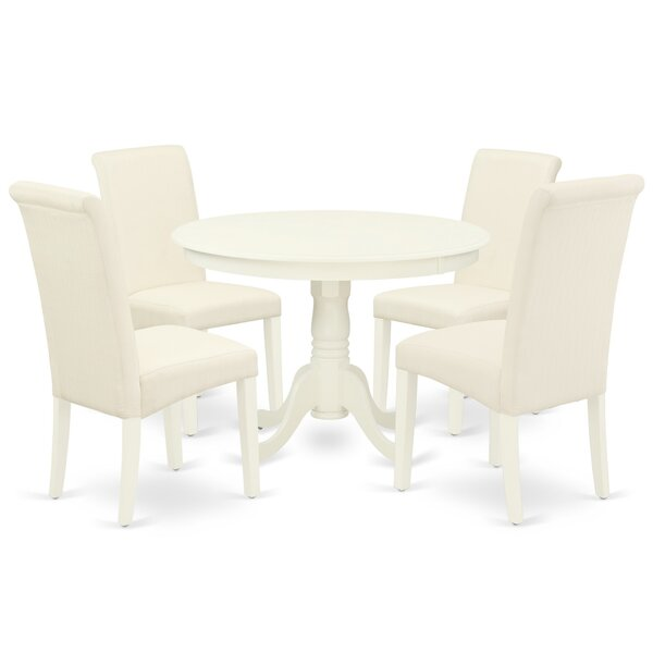 Articombe 5 Piece Solid Wood Dining Set by Winston Porter Winston Porter