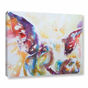 Jazz Pig Painting Print on Wrapped Canvas by Latitude Run