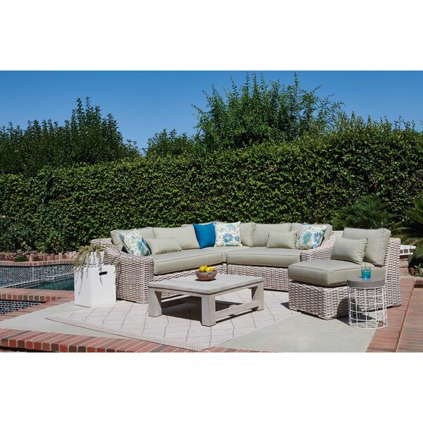 Dartford 5 Piece Rattan Sectional Seating Group With Cushions By Gracie Oaks