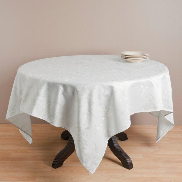 Royal De Noel Jacquard Xmas Square Tablecloth by The Holiday Aisle