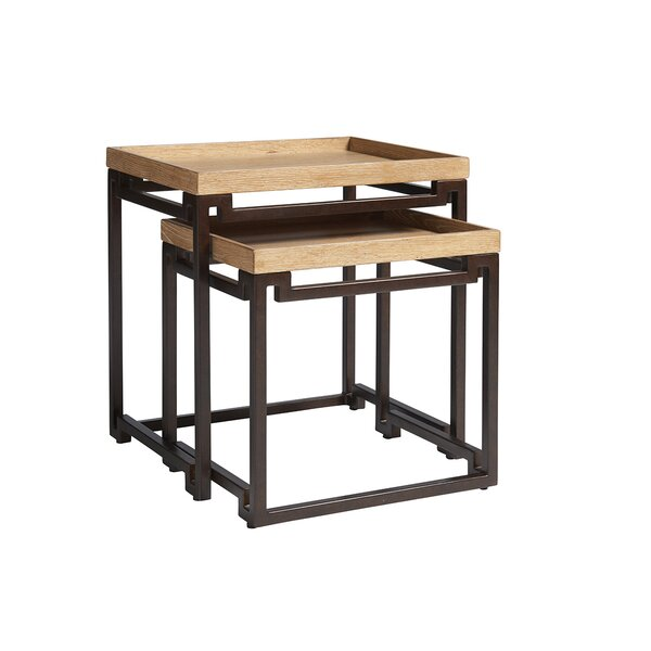 Los Altos 2 Piece Nesting Tables by Tommy Bahama Home Tommy Bahama Home
