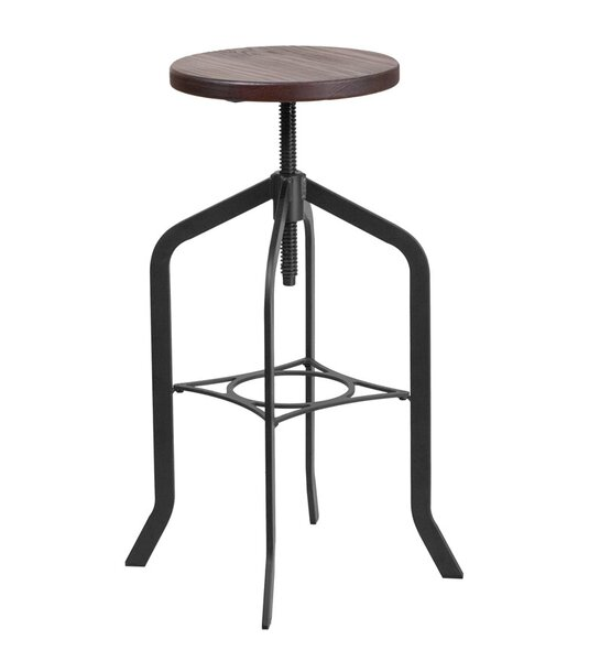 Keena Adjustable Height Swivel Bar Stool by 17 Stories