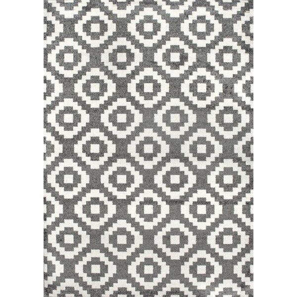 Noma Gray/Ivory Area Rug by Mercury Row