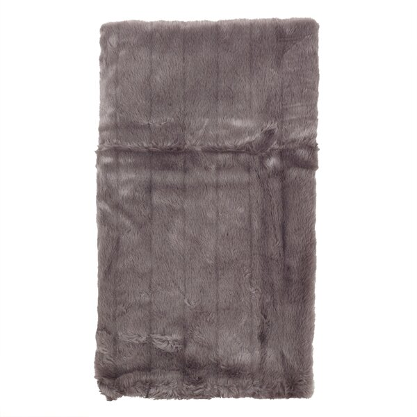 Brinwood Plush Sable Faux Fur Throw Blanket by Foundry Select