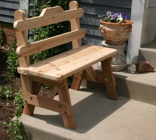 Cedar Tab Back Bench by Creekvine Designs