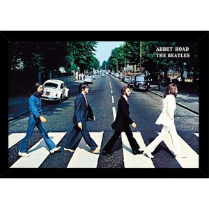 'The Beatles Abbey Road' Horizontal Framed Graphic Art Print Poster by East Urban Home