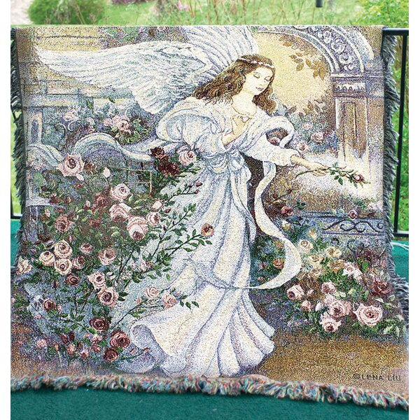 Angel of Love Tapestry Cotton Throw by Manual Woodworkers & Weavers