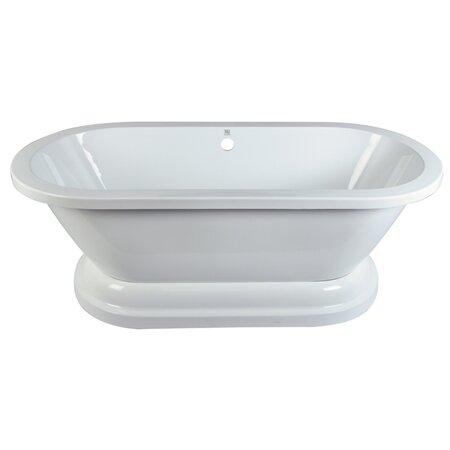 Aqua Eden 32 x 67 Freestanding Soaking Bathtub by Kingston Brass