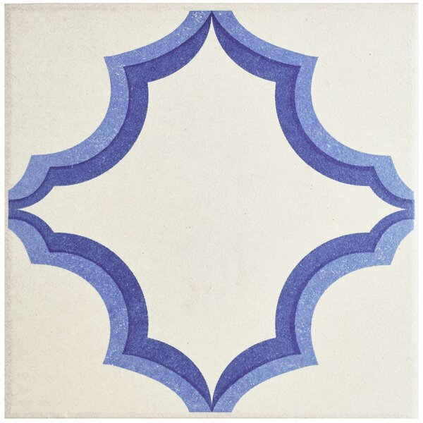 Cementa 7 x 7 Porcelain Field Tile in Blue/White by EliteTile