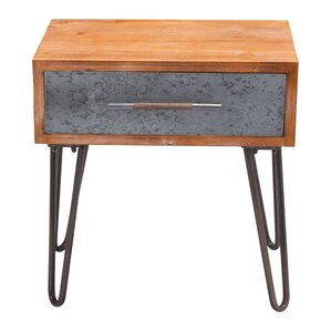 Rosanne Metal End Table by Williston Forge