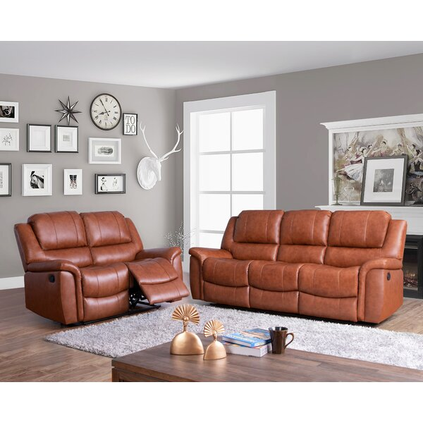 Keziah 2 Piece Leather Reclining Living Room Set by Darby Home Co