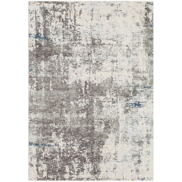 Mckeel Distressed Abstract Gray/Cream Area Rug by Williston Forge