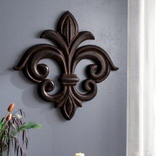 Wood Fleur De Lis Wall Decor
