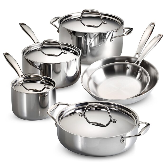 Tramontina Gourmet Tri Ply Clad 10 Piece Cookware Set