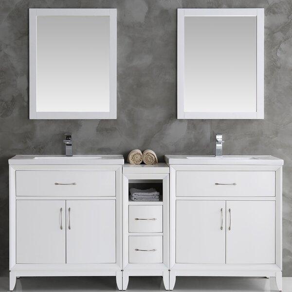 Cambridge 72 Double Bathroom Vanity Set with Mirror