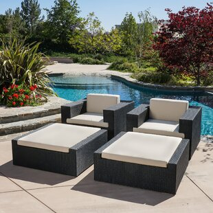 Ventura 4 Piece Lounge Chair Set with Cushions By Home Loft Concepts