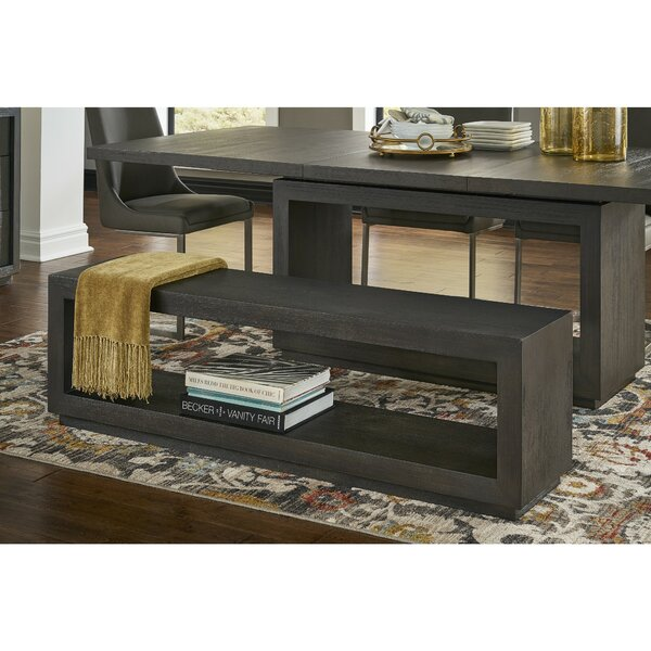 Bozarth Rectangular Wood Storage Bench by Foundry Select